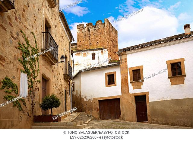 Caceres San Juan square in Extremadura of spain