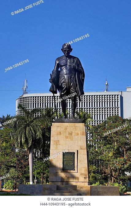 India, South India, Asia, Maharashtra, Mumbai, Bombay, City, Gandhi Monument, Gandhi, statue, history, monument