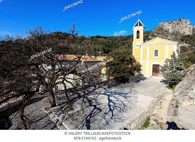 The village of Peillon, Alpes-Maritimes, French Riviera, Côte d'Azur, Provence-Alpes-Côte d'Azur, France