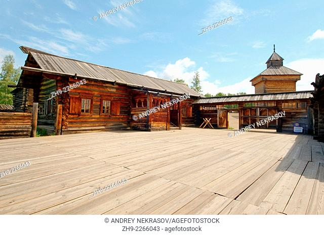 "Country wooden estate. """"Taltsa's"""" (Talzy) - Irkutsk architectural and ethnographic museum. Baikal, Siberia, Russian Federation"