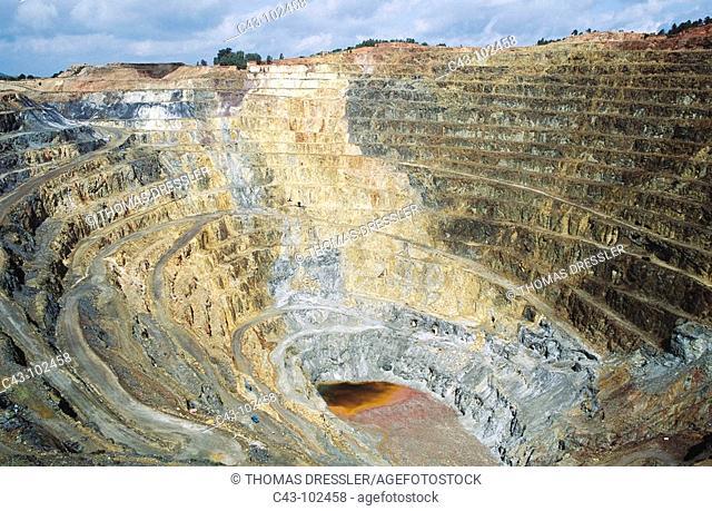 Corta Atalaya, Rio Tinto mines. Huelva province, Andalucia, Spain
