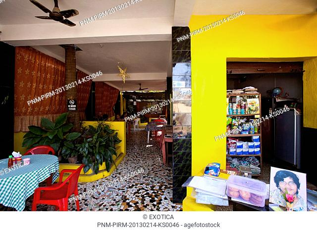 Interiors of a restaurant, Whole Bean, Anjuna, North Goa, Goa, India