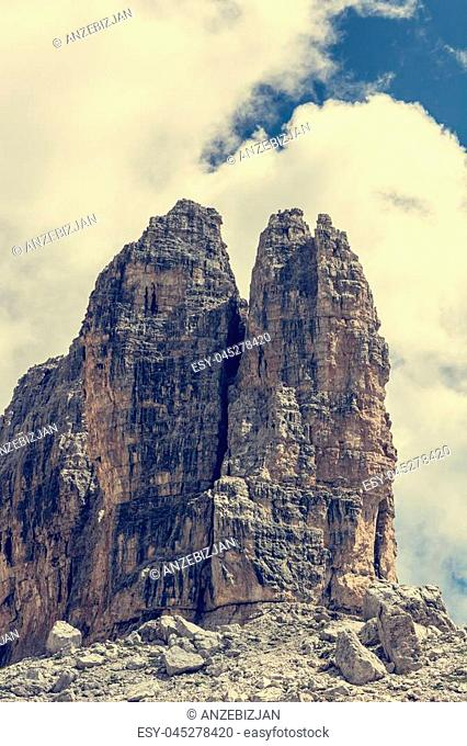 Spectacular mountain view. Brenta Dolomites in Italy are UNESCO world heritage site