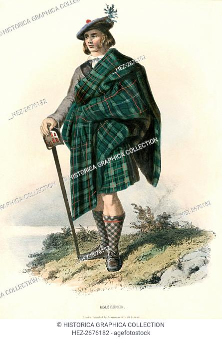 Macleod, from The Clans of the Scottish Highlands, pub. 1845 (colour lithograph)