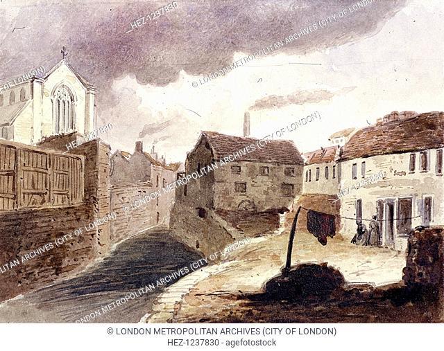 View of the Fleet Ditch, near Field Lane, London, c1850