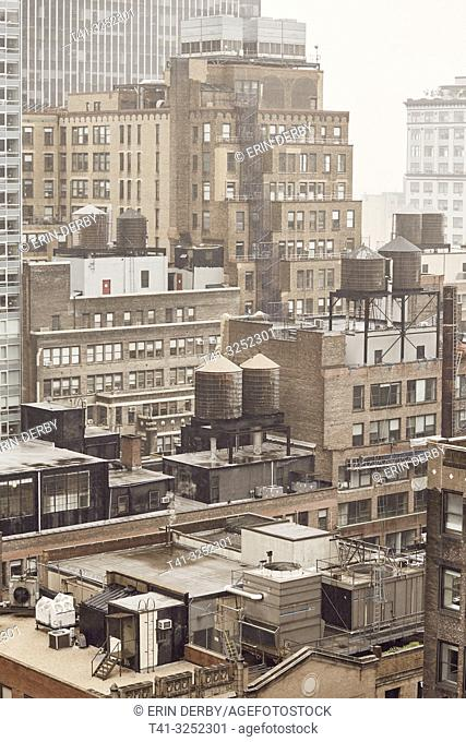 A view from a roof in NYC