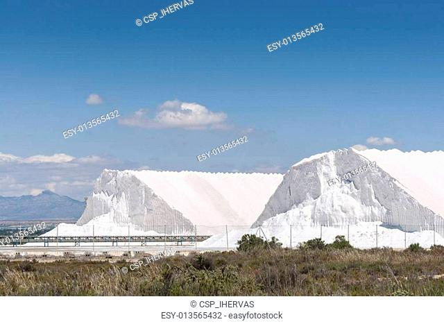 Saltworks in Santa Pola