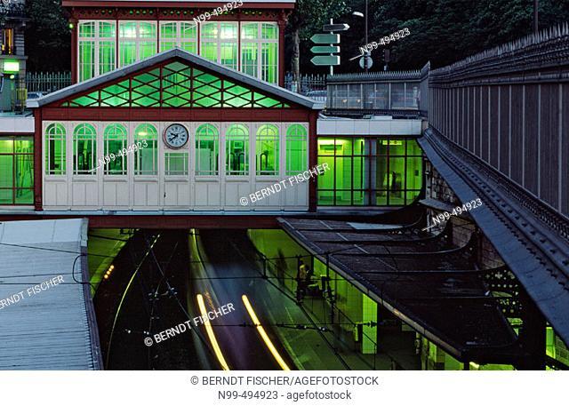 Underground station, Denfert-Rochereau, Paris. France