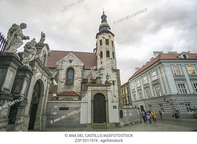 Saint Andrew church in Krakow Poland