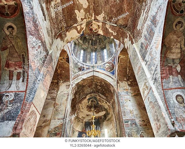 Pictures & imagse of the interior cupola frescoes of the Timotesubani medieval Orthodox monastery Church of the Holy Dormition (Assumption)
