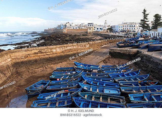 fishing boats in the harbour, Morocco, Essaouira