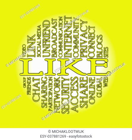 Word cloud social media with a colorful background