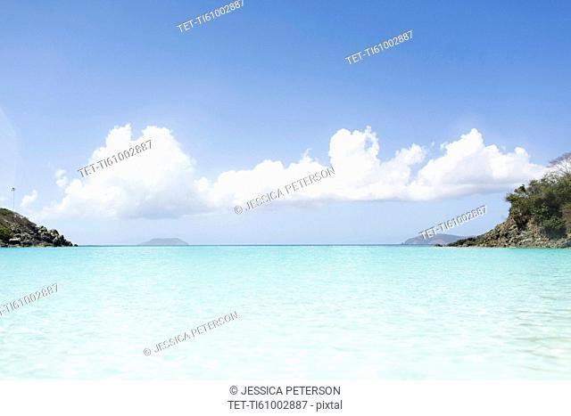 USA, Virgin Islands, Saint Thomas, Turquoise water of exotic sea