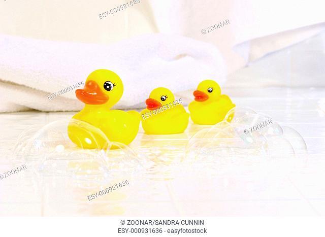 Three little rubber ducks