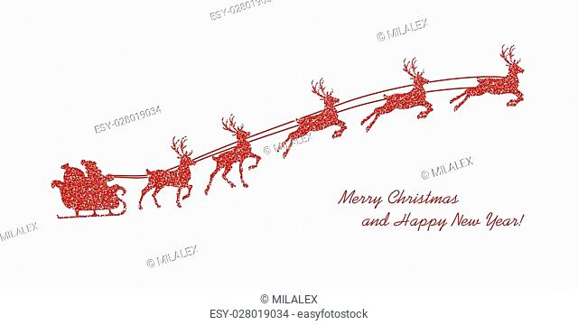 Holiday Christmas background with decorative elements and grunge textures. Vector illustration