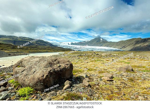 Glacial valley in south Iceland