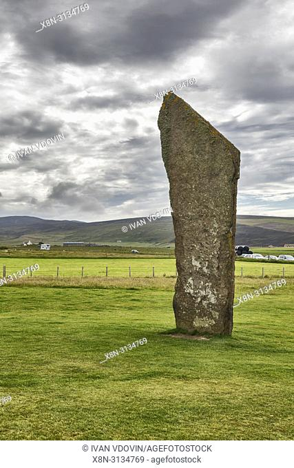 Standing stones of Stenness, Mainland, Orkney islands, Scotland, UK