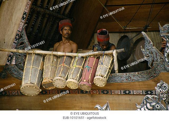 Gamelan musicians in Simanindo Batak community on Samosir Island