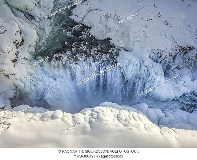 Gullfoss Waterfalls, Wintertime, Iceland