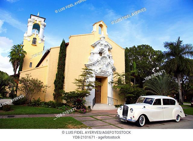 Congregational Church in Coral Gables, Florida, USA