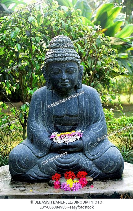 Lord Buddha statue ; Kolkata ; West Bengal ; India