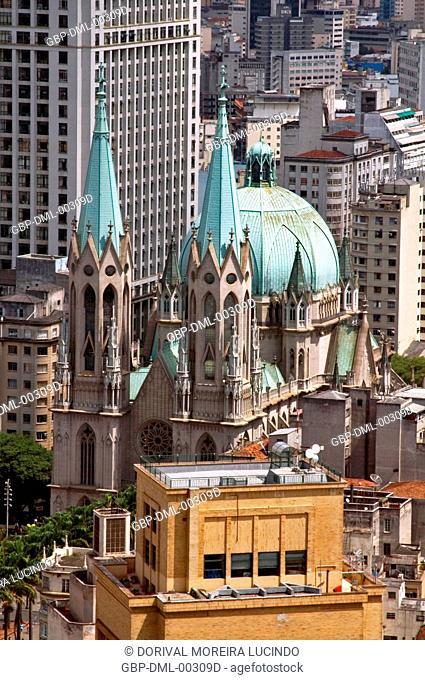Praça da Sé, Catedral da Sé, São Paulo, Brazil