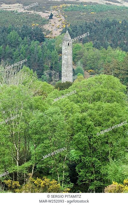6th Century Saint Kevin monastery, Glendalough, County Wicklow, Ireland