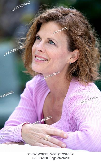 Portrait middle age woman