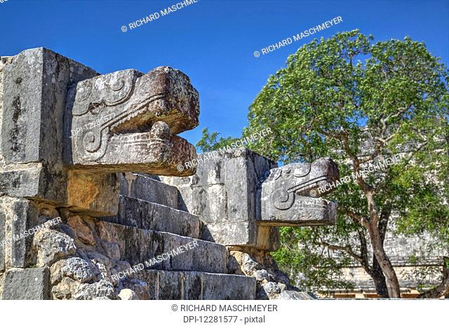 Platform of the eagles and jaguars, Chichen Itza; Yucatan, Mexico