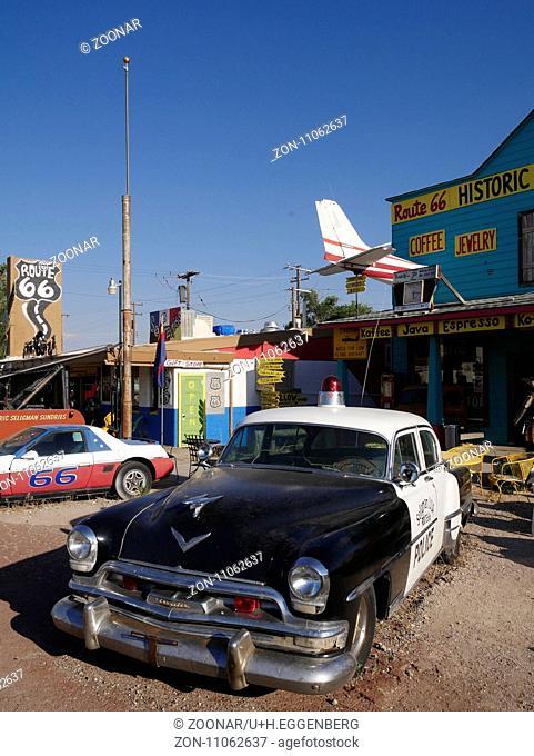 Seligman on the mother road,Arizona
