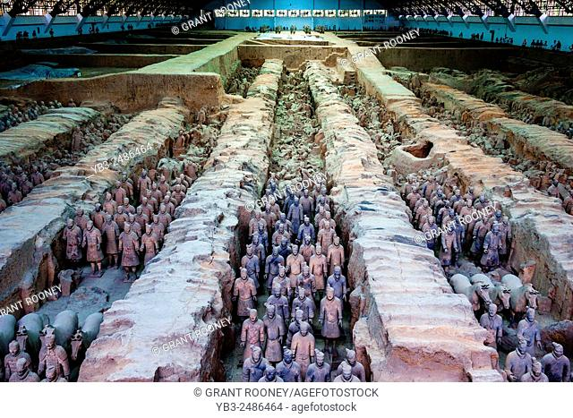 The Terracotta Army, Xi'an, Shaanxi Province, China