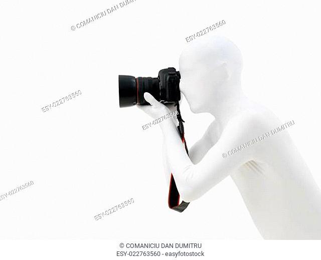 faceless man with camera