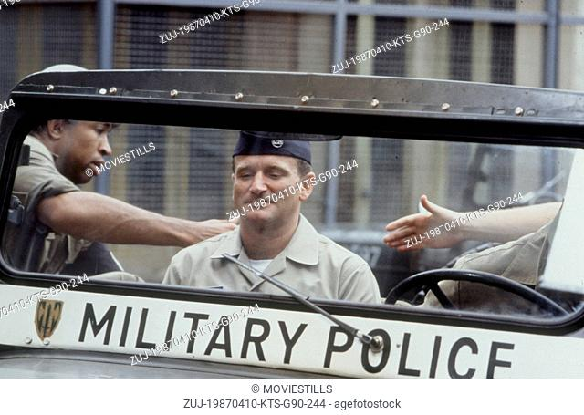 Apr 10, 1987; Hollywood, CA, USA; Image from Barry Levinson's film 'Good Morning Vietnam' starring ROBIN WILLIAMS as A2C Adrian Cronauer