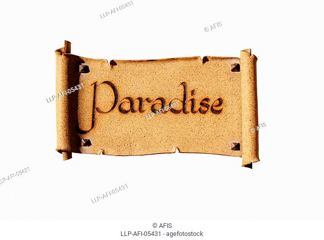 Sign reading Paradise