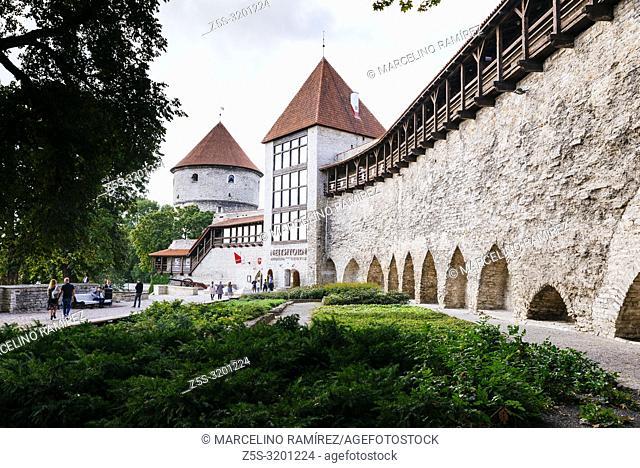 Danish King's Garden and Maiden Tower, Tallinn, Harju County, Estonia, Baltic states, Europe