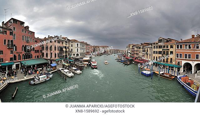 Panoramic view from the Rialto Bridge, Venice