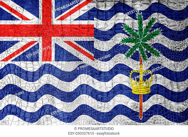 Flag of British Indian Ocean Territory, on a luxurious, fashionable canvas