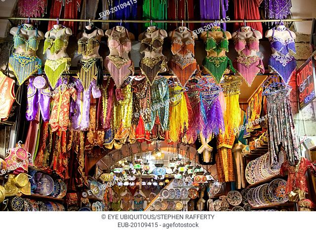 Fatih, Eminou, Misir Carsisi, Display of traditional clothes in the Spice market