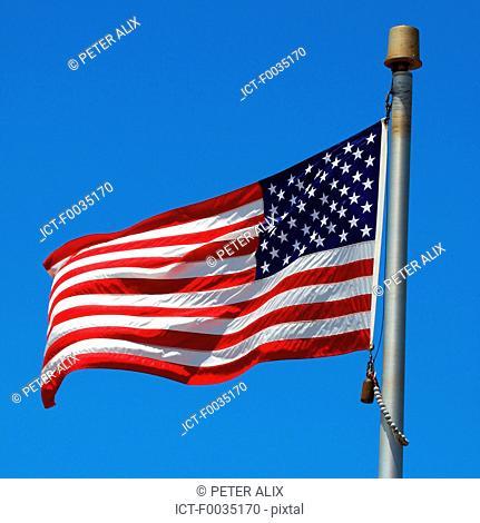 United States, Hawaii, island of Maui, american flag