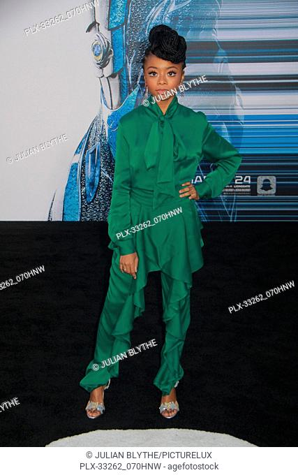 """Skai Jackson 03/22/2017 """"""""Power Rangers"""""""" Premiere held at the Westwood Village Theater in Westwood, CA Photo by Julian Blythe / HNW / PictureLux"""