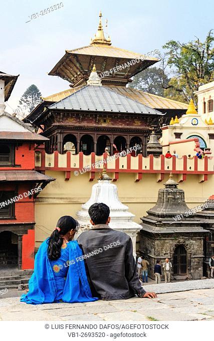 Nepali couple at Pashupatinath temple, Kathmandu, Nepal