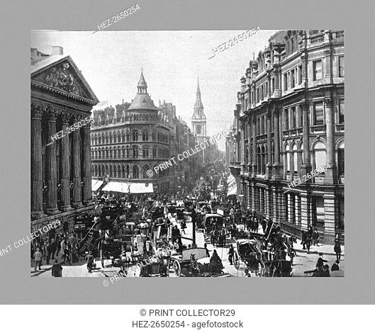 The Mansion House and Cheapside, London, c1900. Artist: Frith & Co
