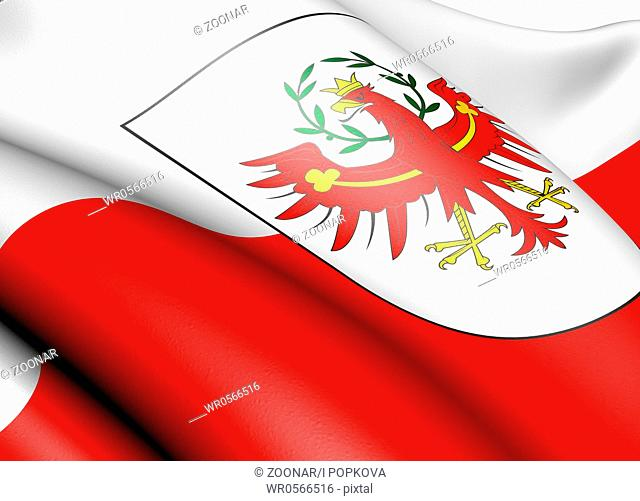 Flag of Tyrol. Close up
