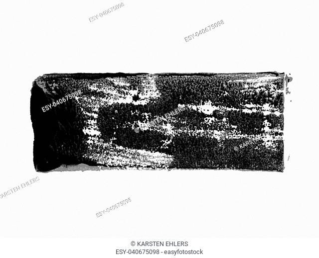 Isolarted dirty black brush stroke