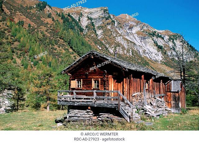 Alpine Hut 1750 m Dorfer Tal near Kals national park Hohe Tauern Oesterreich alps