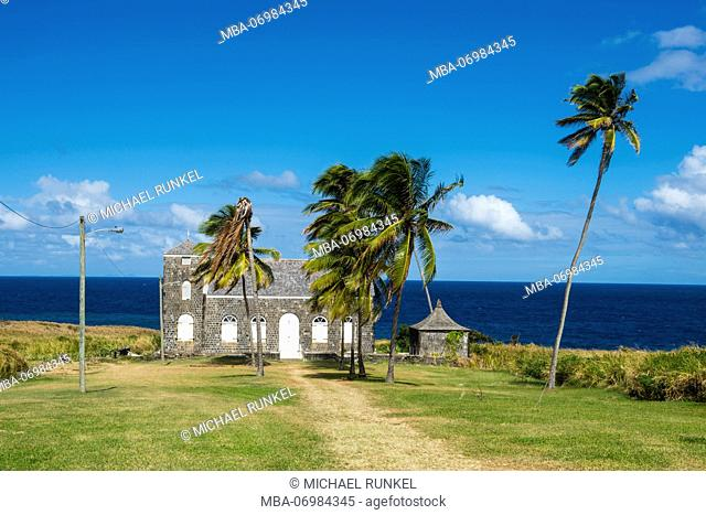 Little church on the north coast of St.Kitts, St. Kitts and Nevis, Carribean