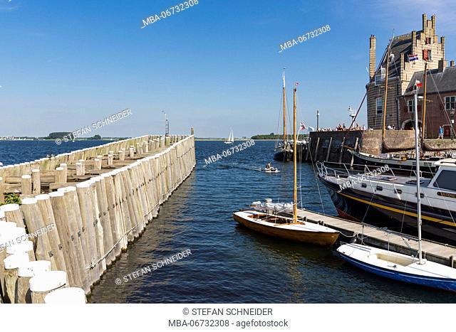 The port entrance of Veere on Zeeland / the Netherlands