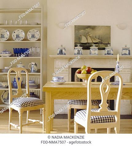 Delft  country kitchen table