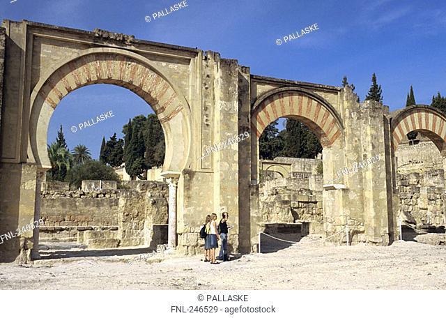 Ruins of castle, Portico de Medina Azahara, Medina Azahara, Cordoba, Andalusia, Spain
