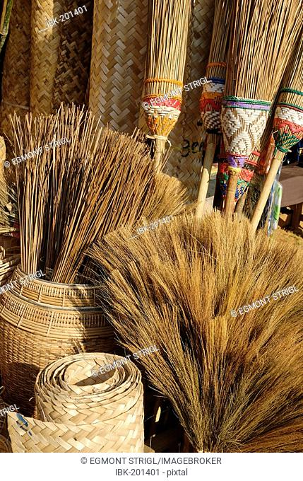 Different brooms, market of Kathar, Myanmar